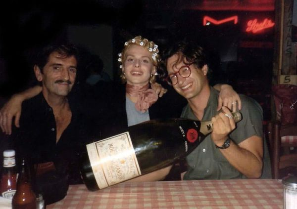 Harry Dean Stanton with Nastassja Kinski and Wim Wenders